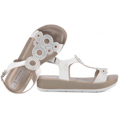 Białe komfortowe sandały damskie